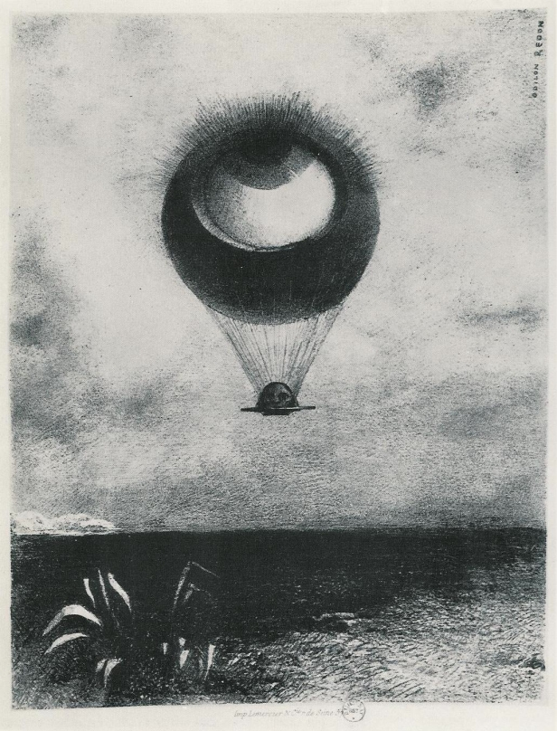 The_Eye_like_a_Strange_Balloon_Moves_Towards_the_Infinite_litho_dedicated_to_Poe_1882