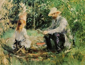 berthe-morisot-french-artist-1841-1895-eugene-manet-and-his-daughter-in-the-garden-1883