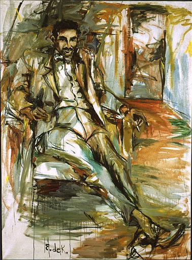 Harold Rosenberg - portrait by Elaine de Kooning, 1956