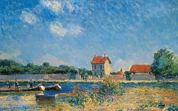 the-loing-canal-at-saint-mammes-alfred-sisley