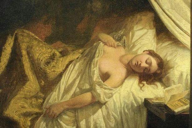 Detail - Le Vampire - Euguene Delacroix