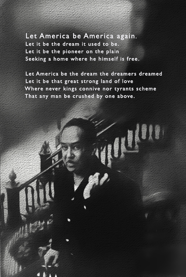 a critique on let america be america again by langston hughes Let america be america again presentation by: kaitlyn mclain mrs temple ap literature and composition 26 april 2015 by: langston hughes growing up - born james langston hughes.