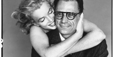 Arthur Miller with wife Marilyn Monroe, photo by Richard Avedon