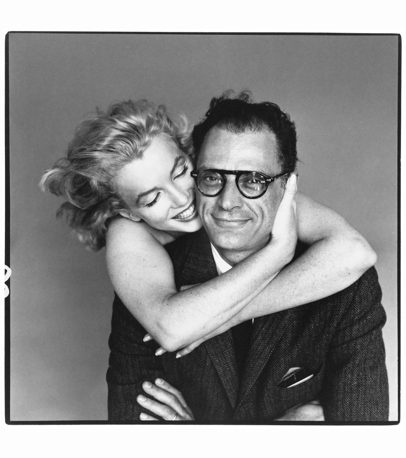 Arthur Miller with wife Marilyn Monroe, photo by Richard Avedon