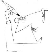 """I am a writer who draws"""