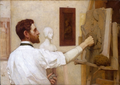Kenyon Cox painting of Augustus Saint-Gaudens