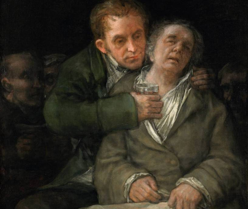 Self portrait - Francisco Goya with Doctor Arrieta