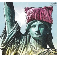 "#WomensMarch2018: ""There us a stubbornness about me... My courage always rises at every attempt to intimidate me."""