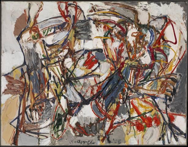 Amorous Dance 1955 by Karel Appel 1921-2006