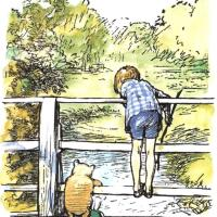 "Pooh Day, 2018 ""If you were a bird, and lived on high, You'd lean on the wind when the wind came by, You'd say to the wind when it took you away..."""