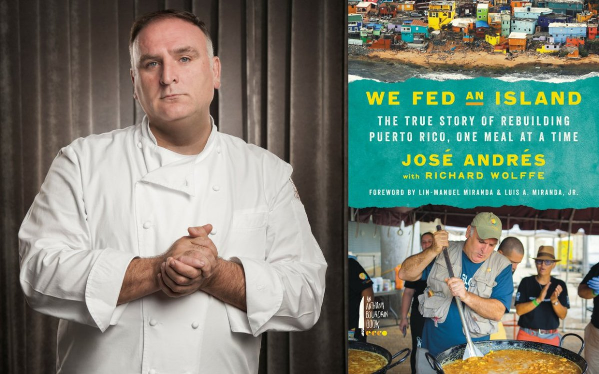 "Chef José Andrés: ""a hot meal is more than just food. It's a plate of hope."""